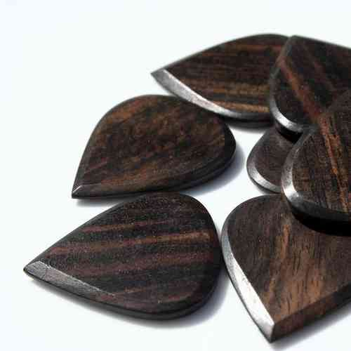 Blues Tones Wooden Plectrum - African Ebony