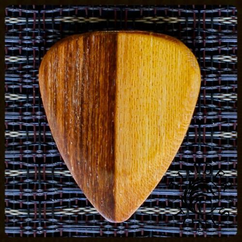 Timber Tones Guitar Wood Pick -  Pale Moon Ebony (medium soft - hard)