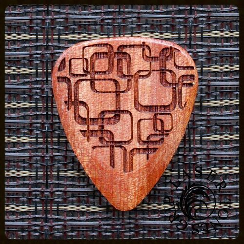 Laser Tones Grip wooden pick 'Art Deco'