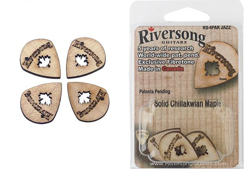 Riversong Jazz Plectra (Pack of 4) - massive wooden Plectra