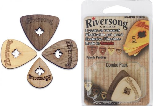 Riversong Plectra 'Combo' - four different picks in a bundle
