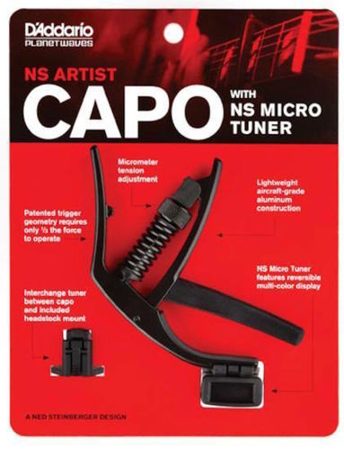 Planet Waves NS Artist Capo mit NS Micro Tuner